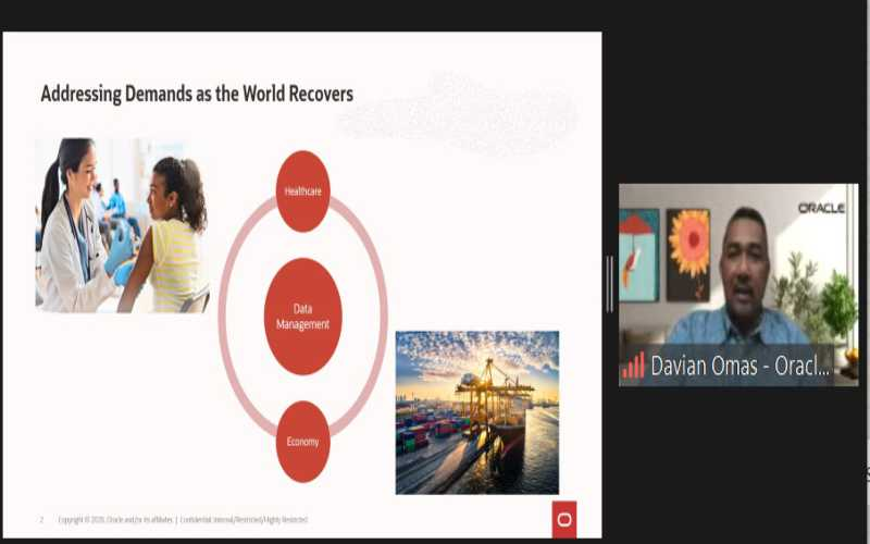 Managing Diractor Oracle Indonesia Davian Omas Berbicara Soal Pemulihan Ekonomi  Pasca Pandemi Covid-19. - Istimewa