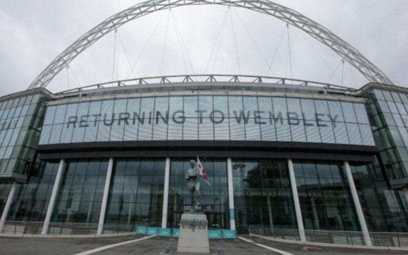 Stadion Wembley di London, lokasi semifinal dan final Euro tahun ini./Antara - AFP
