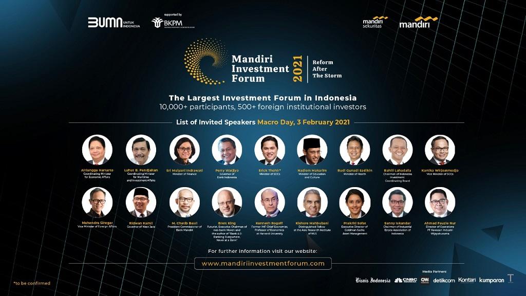 Gambar: Mandiri Investment Forum (MIF) 2021