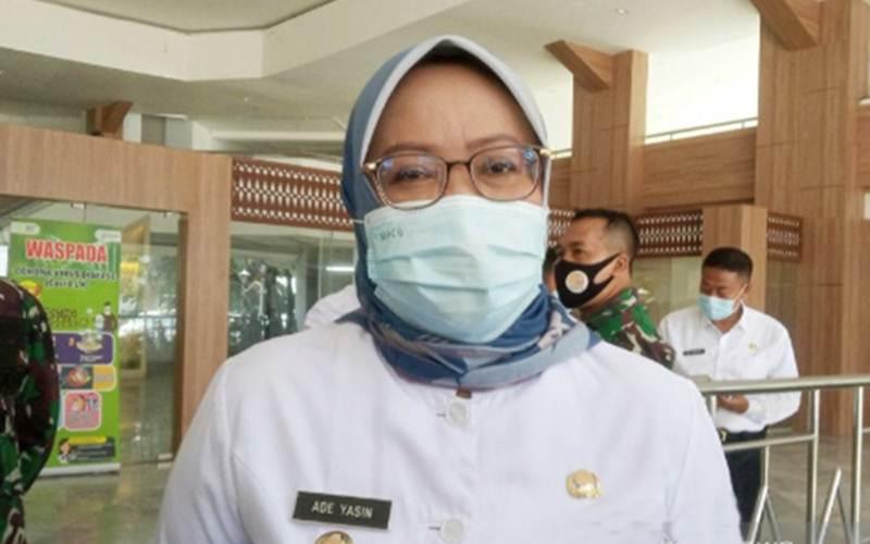 Bupati Bogor Ade Yasin, selaku Ketua Satgas Covid-19 Kabupaten Bogor - Antara/M Fikri Setiawan