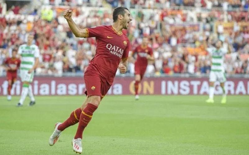 Gelandang serang AS Roma Henrikh Mkhitaryan. - Twitter@ASRomaEB