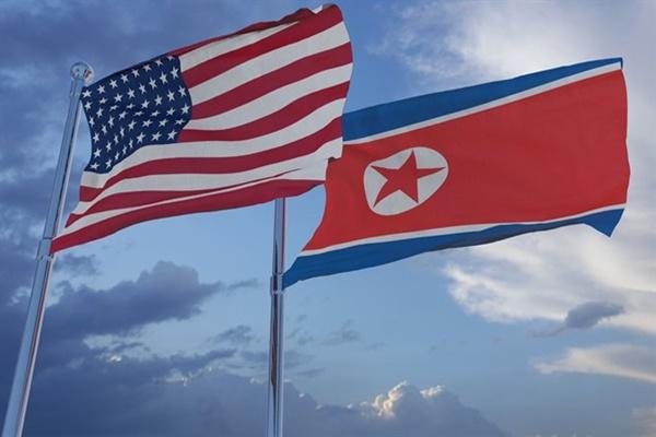 Bendera AS dan Korut - Istimewa
