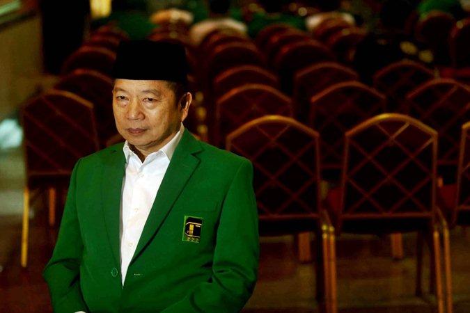 Plt Ketua Umum Partai Persatuan Pembangunan (PPP) Suharso Monoarfa saat menghadiri pembukaan Mukernas III Dewan Pimpinan Pusat PPP di Bogor, Jawa Barat, Rabu (20/3/2019). - Bisnis/Nurul Hidayat