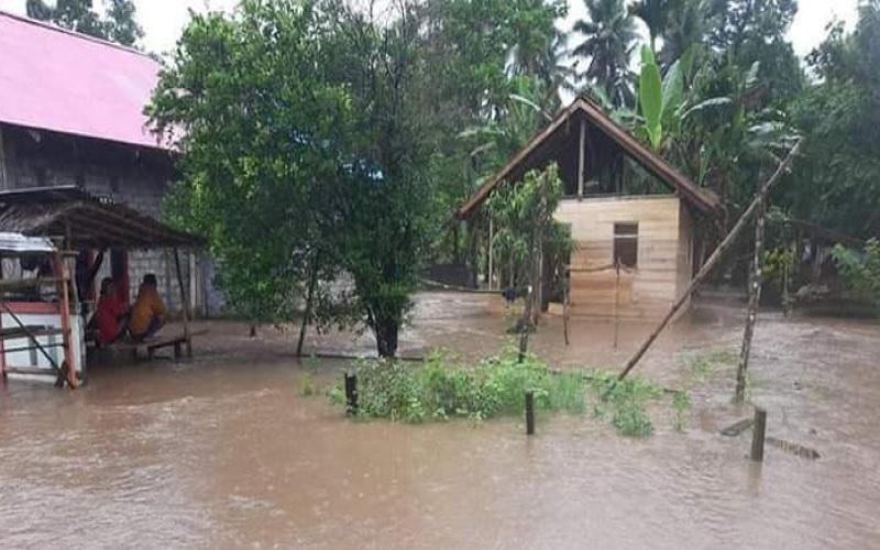 Banjir di Kabupaten Halmahera Utara. - Dok.BPBD Kabupaten Halmahera Utara\r\n