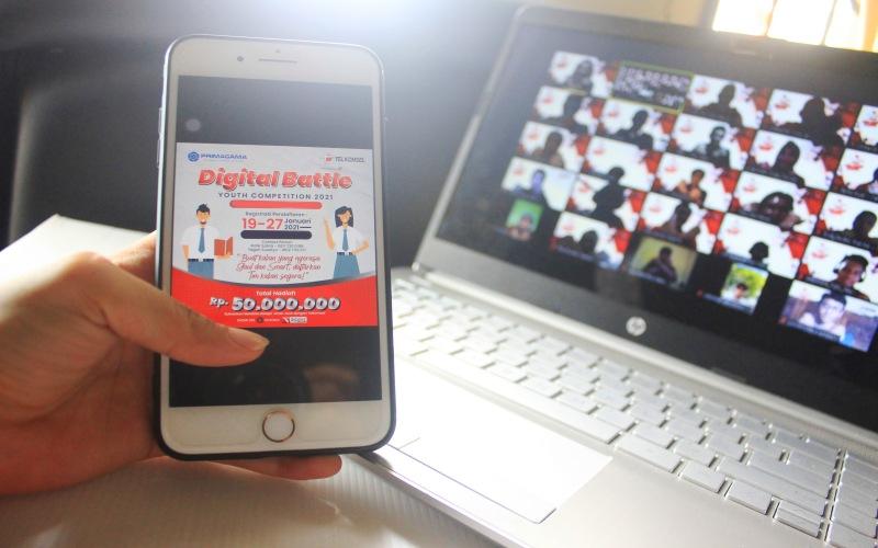Telkomsel berkolaborasi dengan Lembaga Bimbingan Belajar Primagama  menghadirkan program inisiatif untuk mendorong semangat belajar pelajar SMA - K sederajat melalui program Digital Battle Youth Competition 2021 (D/BATE)