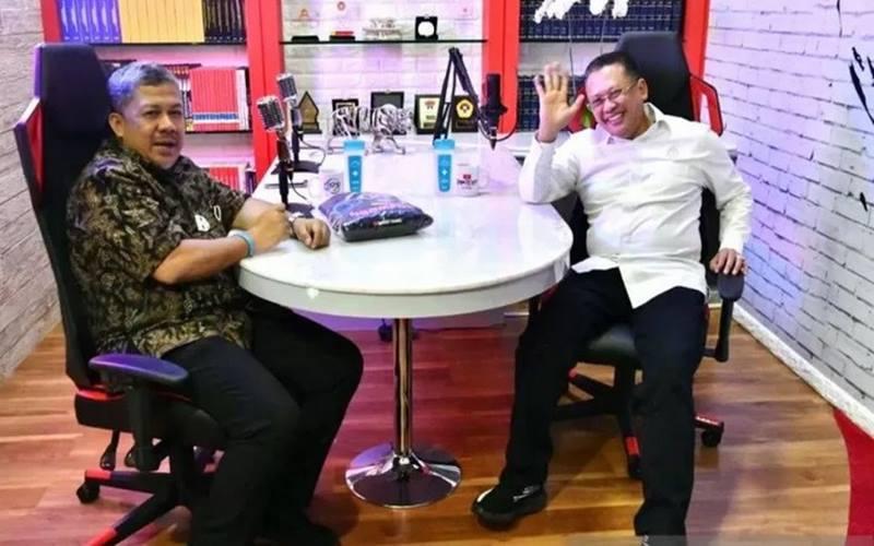 rnKetua MPR RI Bambang Soesatyo mengundang mantan Wakil Ketua DPR RI Fahri Hamzah dalam acara
