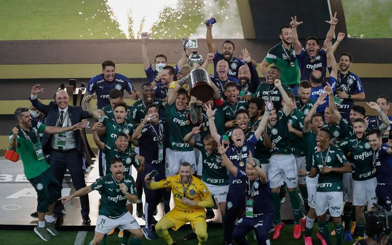 Klub Brasil Palmeiras tampil sebagai juara Copa Libertadores edisi 2020. - Twitter@CONMEBOL