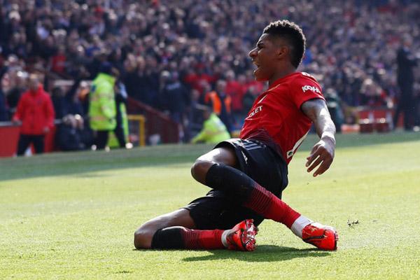 Ujung tombak Manchester United Marcus Rashford/Reuters - Jason Cairnduff
