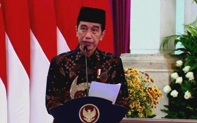 Presiden Joko Widodo pada acara peresmian PT Bank Syariah Indonesia Tbk. di Istana Negara, Jakarta, Senin 1 Februari 2021 / Youtube Setpres