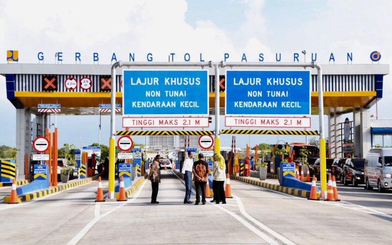 Gerbang Tol Pasuruan, bagian dari Jalan Tol Gempol-Pasuruan. - pu.go.id