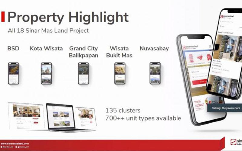Sinarmas Land meluncurkan e-katalog untuk memudahkan konsumen mencari properti. - Istimewa