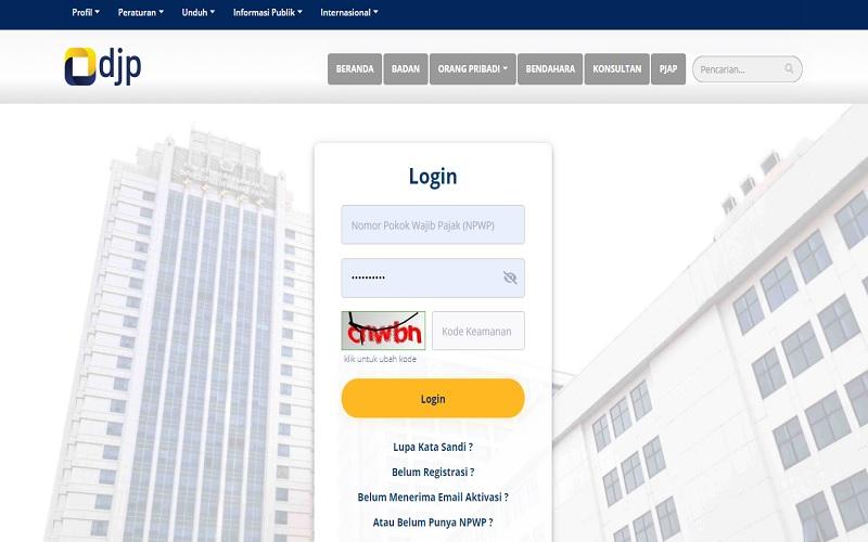 Wajib pajak bisa memanfaatkan fitur NPWP Elektronik dengan login ke situs pajak.go.id