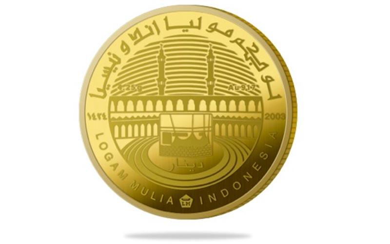 Ilustrasi koin dinar Antam.  - logammulia.com