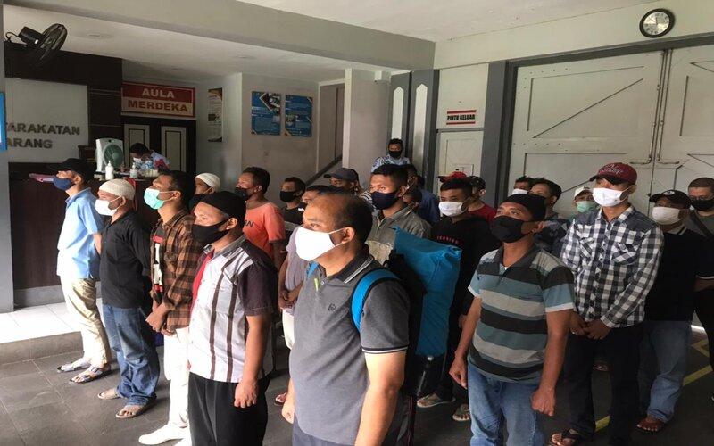 Puluhan narapidana Lapas Semarang. - Ist