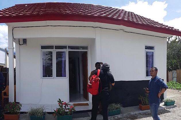 Bentuk Rumah Khusus Wamena yang dibangun pemerintah, Senin (2/3/2020). Bisnis - Mutiara Nabila