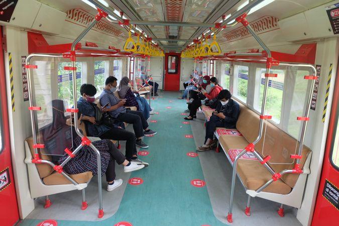 Kondisi gerbong KRL Jogja - Solo, Kamis (21/1/2021). (Solopos - Farida Trisnaningtyas)