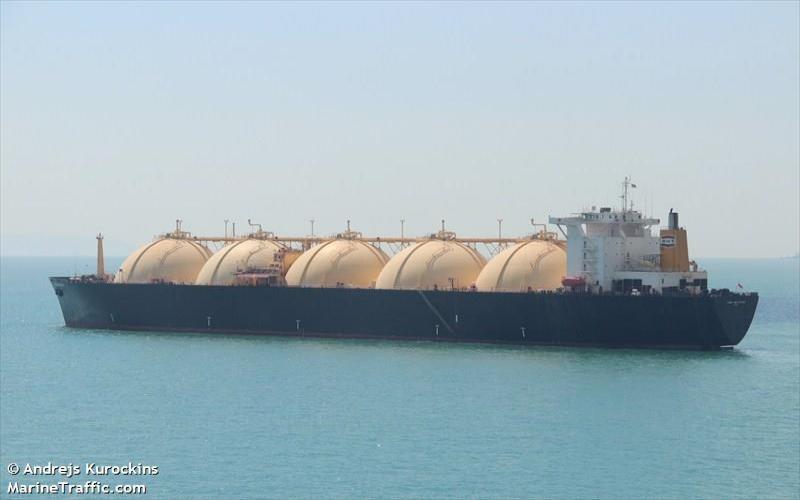 LNG Aquarius, salah satu kapal LNG terbesar di Indonesia. - Istimewa/www.marineTraffic.com
