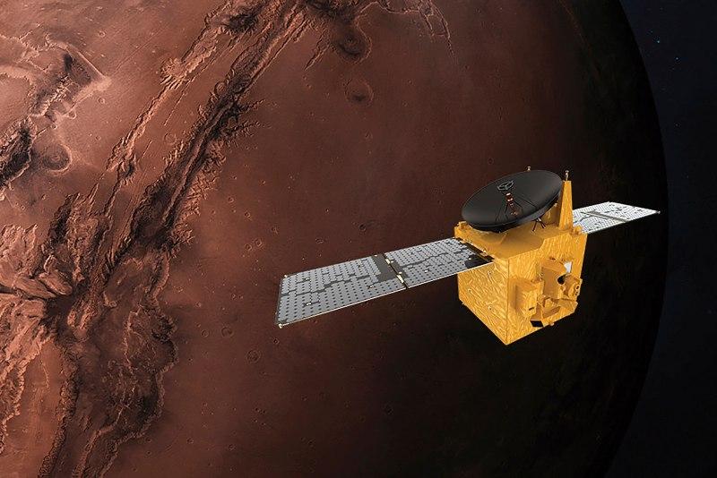 Pesawat luar angkasa senilai Rp2,7 triliun milik Uni Emirat Arab mengorbit di planet Mars. - Times of Israel