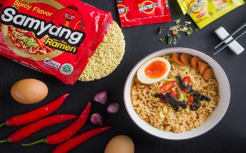 PT Jakarta Boga Utama Sari Memperkenalkan Kembali Empat Varian Produk Baru Samyang Mie dari Korea Selatan. - Istimewa