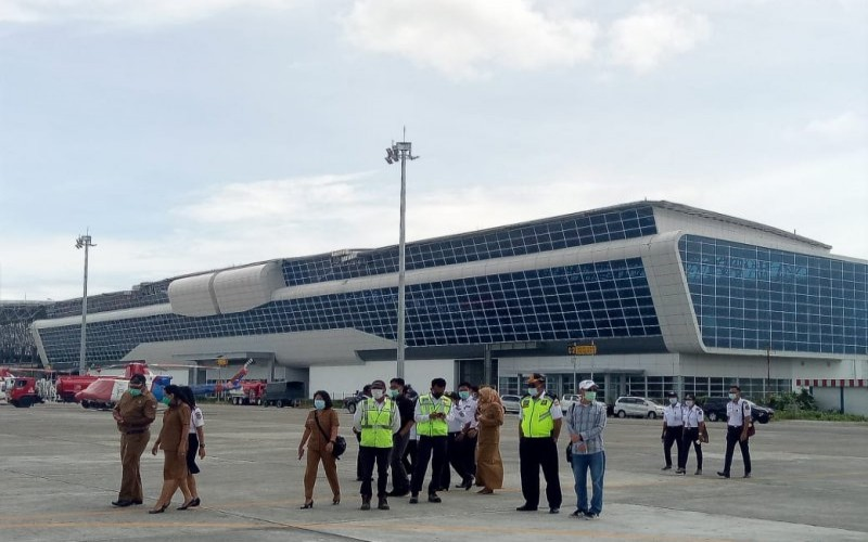 Terminal penumpang Bandara Mozes Kilangin Timika sisi selatan yang dibangun oleh Kementerian Perhubungan. - ANTARA/Evarianus Supar