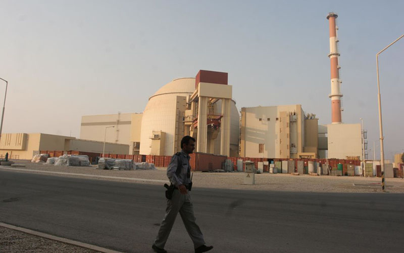 Ilustrasi - Pembangkit listrik bertenaga nuklir di Bushehr, Iran, sekitar 750 kilometer sebelah selatan Teheran. - Bloomberg/Mohsen Shandiz