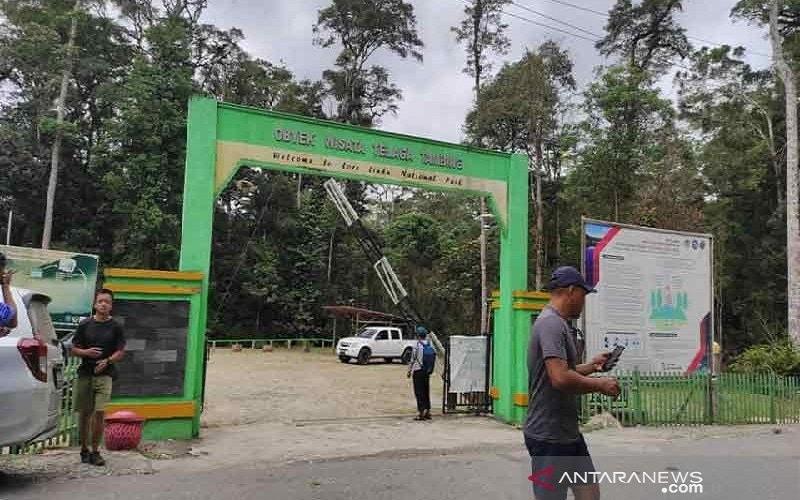 Pintu masuk obyek wisata Danau Tambing,salah satu destinasi wisata unggulan di Sulawesi Tengah.Lokasinya berada dalam kawasan Taman Nasional Lore Lindu (TNLL) - Antara