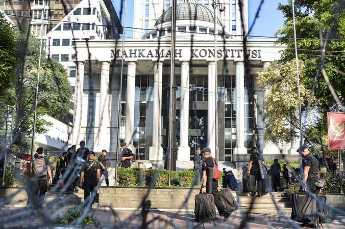 Ilustrasi - Suasana Gedung Mahkamah Konstitusi (MK), Jakarta, pada Selasa (18/6/2019). - Antara/Nova Wahyudi