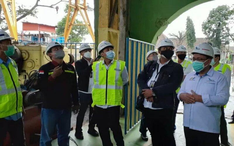 Manajemen PTPN XI melakukan monitoring di pabrik gula. - Antara/PTPN XI.