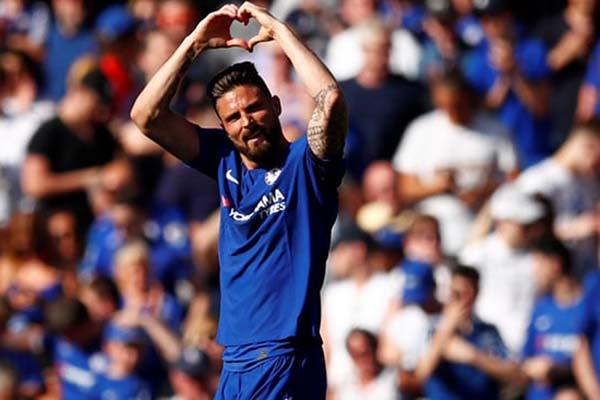 Striker Chelsea Olivier Giroud/Reuters - Eddie Keogh