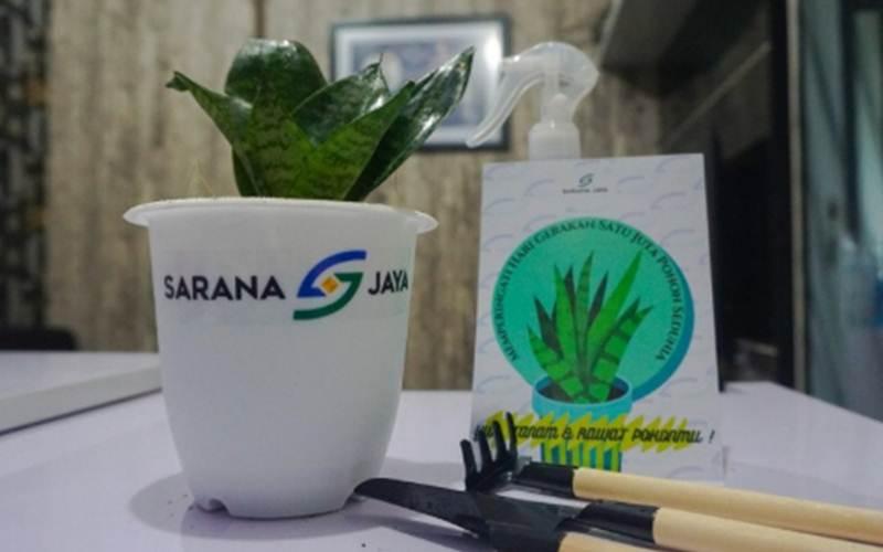 Tanaman yang dibagikan gratis oleh Sarana Jaya/Antara - HO
