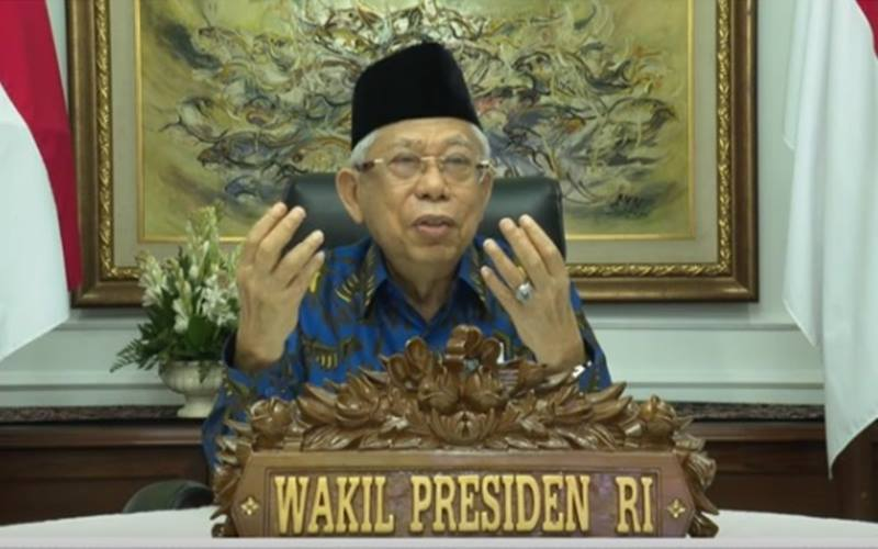Wakil Presiden Ma'ruf Amin./JIBI - Bisnis/Nancy Junita @najwashihab