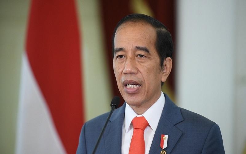 Presiden Joko Widodo dalam Konferensi Tingkat Tinggi Climate Adaptation Summit (KTT CAS) 2021, pada Senin (25/1/2021). - Biro Pers Sekretariat Presiden