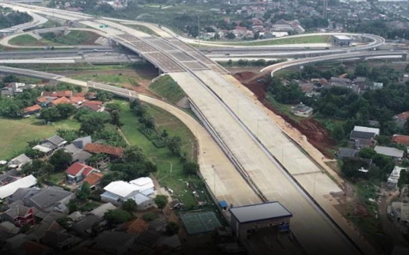 Pembangunan jalan tol Serpong-Cinere. - Istimewa/BPJT