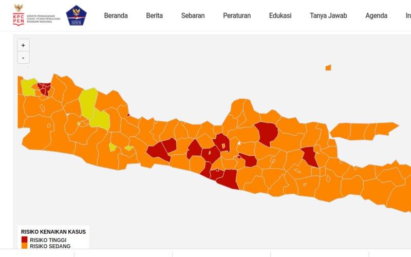 Satgas Covid/19 mengumumkan zona merah Covid/19 di Jawa Tengah bertambah menjadi delapan daerah per 14 Februari. Pengumuman ini berbeda dengan klaim Gubernur Jateng Ganjar Pranowo bahwa daerah tersebut telah terbebas dari zona merah Covid/19.