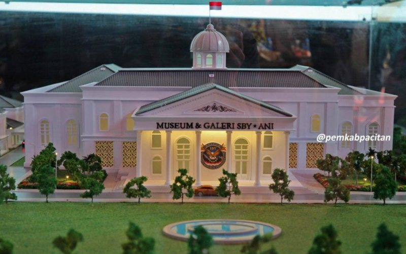 Maket gedung Museum dan Galeri SBY/ANI di Pacitan, Jawa Timur / Dok. Pemkab Pacitan