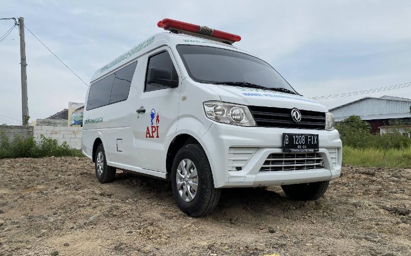 Ilustrasi mobil ambulans.