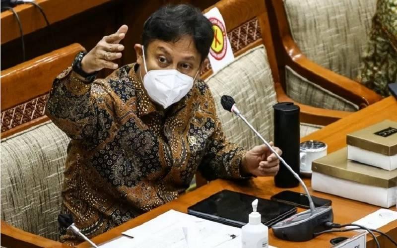 Menteri Kesehatan Budi Gunadi Sadikin saat memberikan paparan dalam rapat kerja bersama Komisi IX DPR di Kompleks Parlemen, Senayan, Jakarta, Rabu (13/1/2021). - Antara
