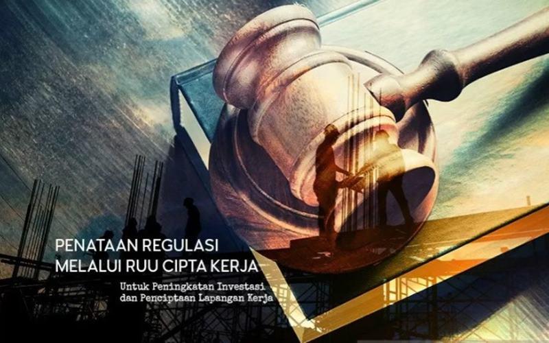 Penataan regulasi melalui UU Cipta Kerja untuk peningkatan investasi dan penciptaan lapangan kerja.  - Antara