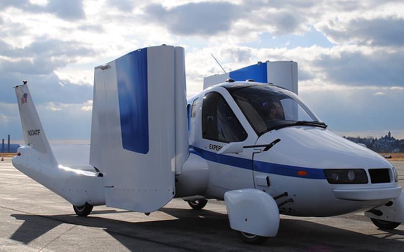 Ilustrasi mobil terbang produksi Terrafugia Transition.  -  Dok. www.terrafugia.com