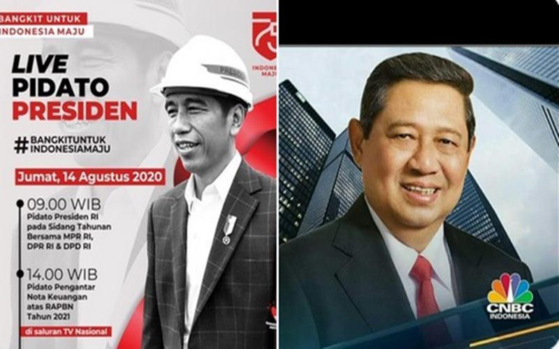 Presiden Joko Widodo (kiri) dan Susilo Bambang Yudhoyono (SBY) - Twitter @AndiAndis6