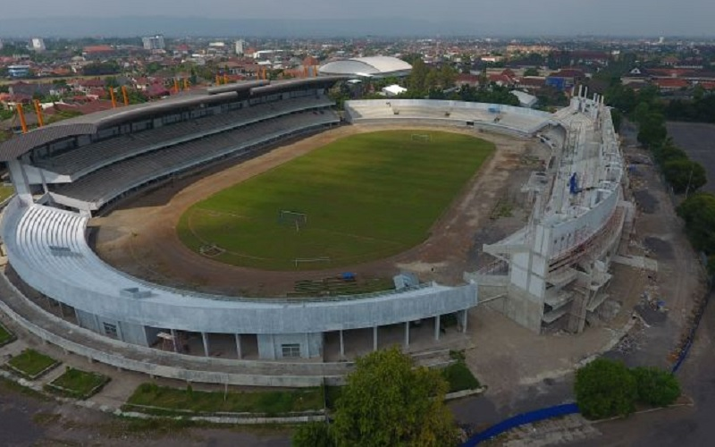 Foto aerial stadion Mandala Krida, Baciro, DI Yogyakarta, Rabu (5/7). - Antara
