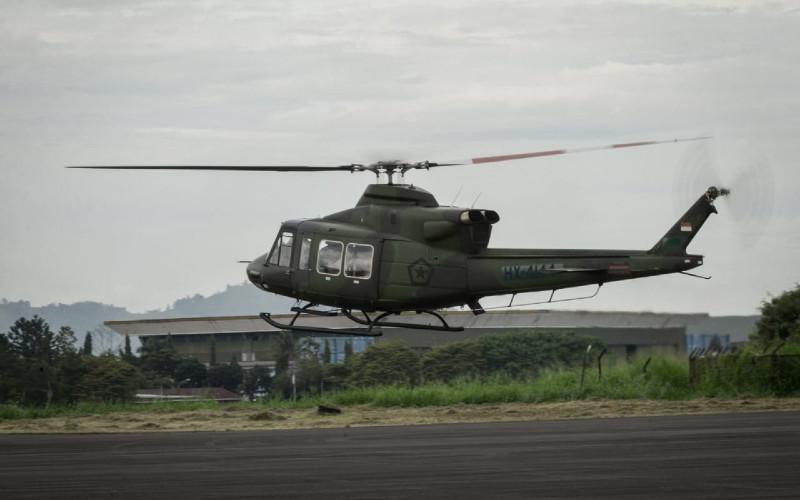 Helikopter Bell-412 EPI akan dioperasikan Skadron-11 Serbu Puspenerbad.  - PTDI