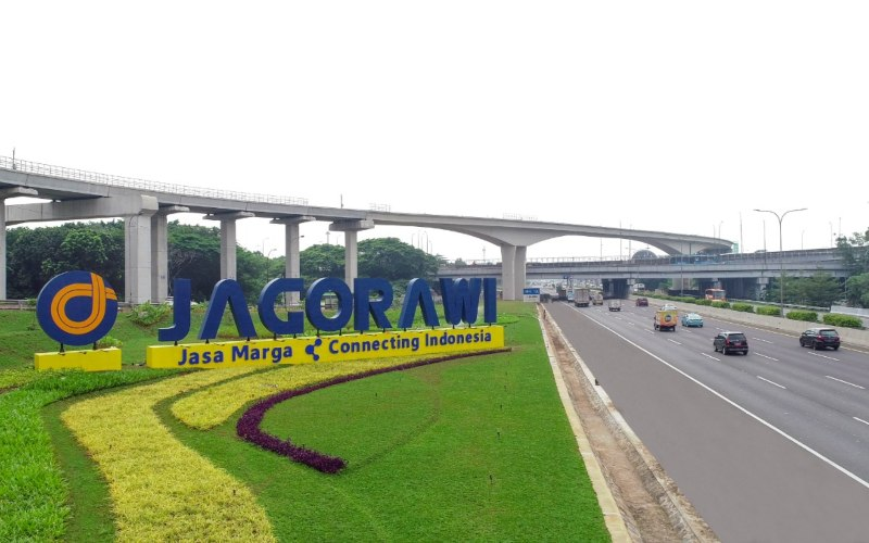 Ilustrasi - Tengara Jagorawi di salah satu titik ruas jalan tol Jakarta-Bogor-Ciawi. Jalan tol Jagorawi merupakan jalan tol pertama yang dikelola oleh PT Jasa Marga (Persero) Tbk. - Jasa Marga