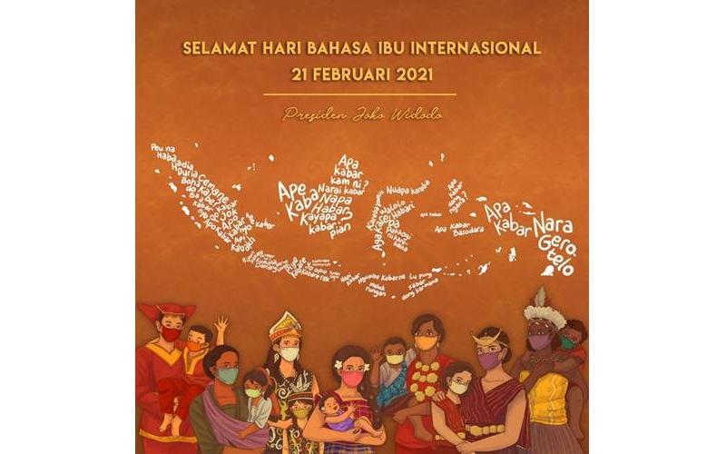 Hari Bahasa Ibu - Twitter/@Jokowi