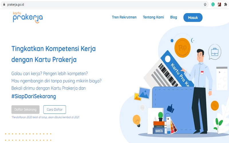 Situs resmi program Kartu Prakerja hanya di prakerja.go.id  -  Tangkapan layar prakerja.go.id