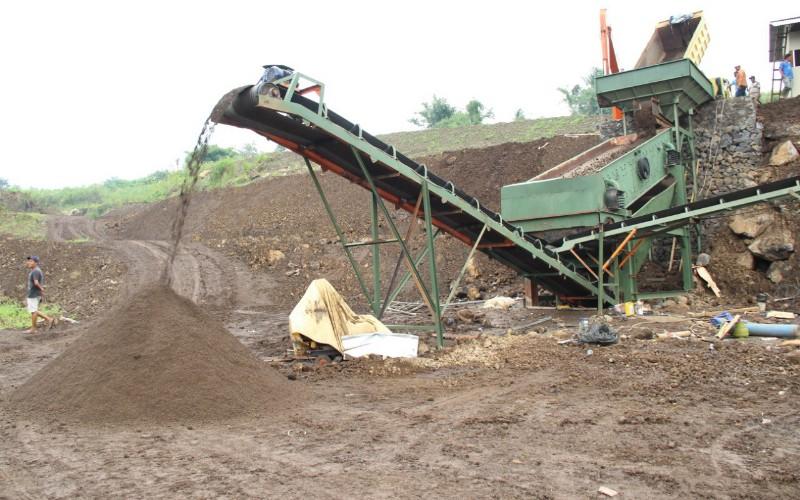 PT Jasa Sarana menyiapkan tambang pasir batu di Paseh, Sumedang