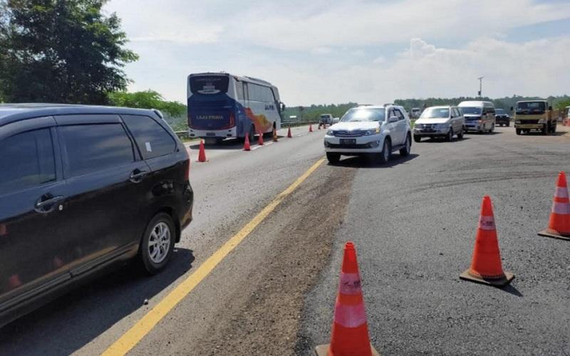 Jalan Tol Cipali pascaamblasnya jalan di KM 122 - Istimewa