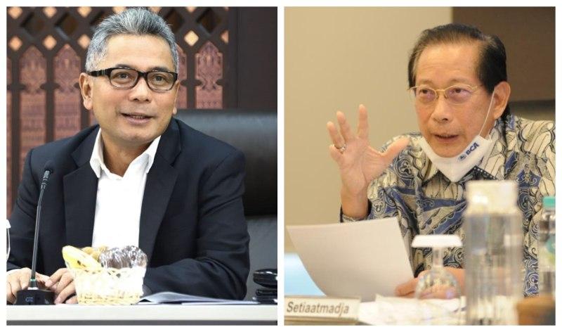 Direktur Utama PT Bank Rakyat Indonesia (Persero) Tbk. Sunarso dan Presiden Direktur PT Bank Central Asia Tbk. Jahja Setiaatmadja mengungkapkan akan membagikan dividen kepada investor.