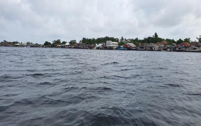 Desa Sungai Ceper, Kecamatan Sungai Menang, Kabupaten Ogan Komering Ilir (OKI), Provinsi Sumatra Selatan yang masih terkendala akses telekomunikasi. - Istimewa