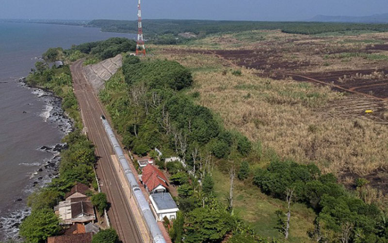Pembangunan Kawasan Industri Batang di Ketanggan, Kabupaten Batang, Jawa Tengah./Antara - Harviyan Perdana Putra